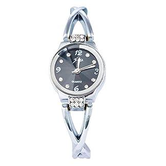 Souarts-Damen-Edelstahl-Armbanduhr-Quartz-Analog-Armreif-Uhr-mit-Batterie