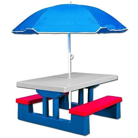 DEUBA GmbH & Co. KG.Table et bancs de jardin pour enfants avec trou pour parasol