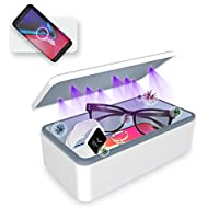 Cahot UV Sterilizer Box, Portable UV Light Phone Sterilizer Box with Extra Rack, Wireless Charging for Smart Phone, Deep UV Sterilizing Box for Cell Phone, Watches, Jewelry, Glasses Sanitation