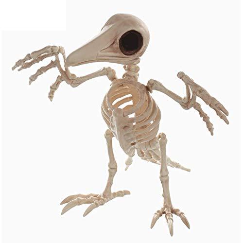 SLH Halloween Ornament Simulation Crow Modell Schädel Knochen Regal Horror Bar Haunted House (Hund Skelett Halloween Dekoration)
