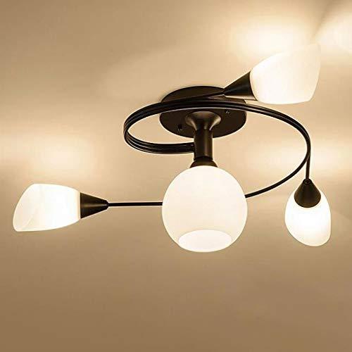 Deckenstrahler Deckenleuchte LED Deckenlampe InnenBeleuchtung Flur Unterputz Wohnzimmer Treppenhaus Mall Schlafzimmer Superhell E27 * 4, (Schwarz)