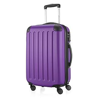 HAUPTSTADTKOFFER-Spree-Handgepck-Hartschalen-Koffer-Trolley-Rollkoffer-Reisekoffer-Erweiterbar-TSA-4-Rollen-55-cm-42-Liter-Lila