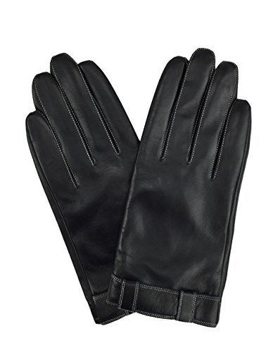 Kostüm 2 Ipad - YISEVEN Herren Aus echtem Ziegenleder Winter Warme Gestreifte Handschuhe mit Touchscreen Technologie
