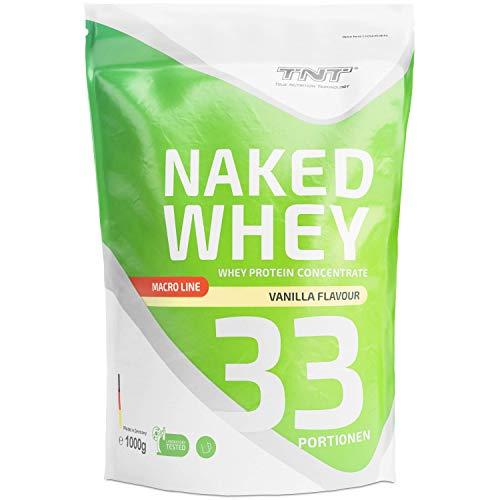 TNT Whey Protein Pulver – Eiweißpulver aus Molke – Proteinpulver mit Laktase – Eiweiß-Shake / 1kg VANILLE
