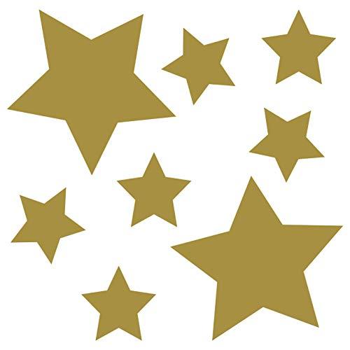 rne | Gold - glänzend | Wandtattoo Wandaufkleber Wandsticker Aufkleber Sticker | Wohnzimmer Schlafzimmer Kinderzimmer Küche Bad | Deko Wände Glas Fenster Tür Fliese ()