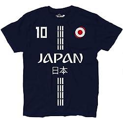 KiarenzaFD Camiseta Camiseta Fútbol Selección Kagawa Japón 10Streetwear Hombre, KTS01863-L-Blu-Navy, Azul Navy, Large