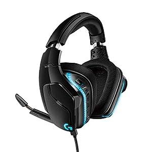 Logitech G935 Kabelloses Gaming-Kopfhörer (mit 7.1 Surround Sound, 50 mm Pro-G Klangtreiber, LYGHTSYNC RGB) (Generalüberholt)