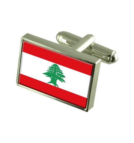 Select Gifts Líbano Gemelos de Bandera con Bolsa