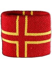 Digni® Poignet éponge avec drapeau France Normandie Croix de Saint Olaf
