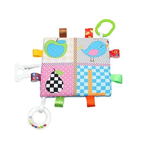 Baby Sensory Crinkle Zahnen Platz Lovey Spielzeug mit Closed-Band Schlagwörter Texturen Chime Beißring Spaziergänger Spielzeug Früherziehung für Kleinkinder Vogel-Art 1PC Crinkle-band