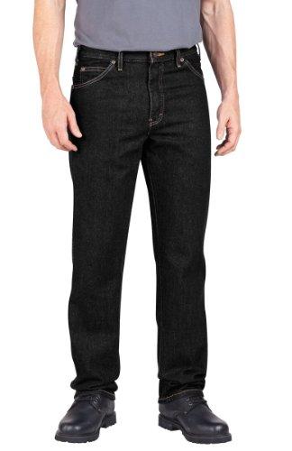 """Preisvergleich Produktbild Dickies Littmann Workwear c993rbk Denim Baumwolle Regular Fit Herren Industrie Jean mit geradem Bein, schwarz, 44"""" Waist Size, 32"""" Inseam, schwarz, 1"""
