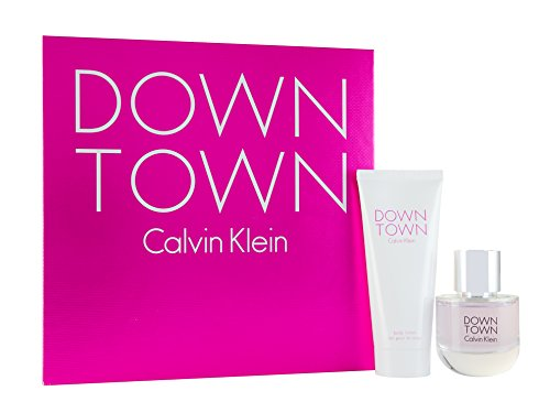 Calvin Klein Downtown Eau De Toilette Spray 50 ml + 100 ml Body Lotion Gift Set for Her – 50 ml