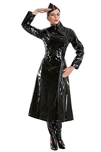 Lackina- Lack Mantel mit hohem Kragen Gr S-3XL (3XL)