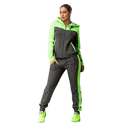 (GreatestPAK Trainingsanzüge Damen Zweiteiler mit Kapuze Sport Sweatshirt Anzüge Sweatpants)