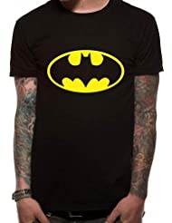 Officiellement Marchandises Sous Licence BATMAN - LOGO T-Shirt (Noir)