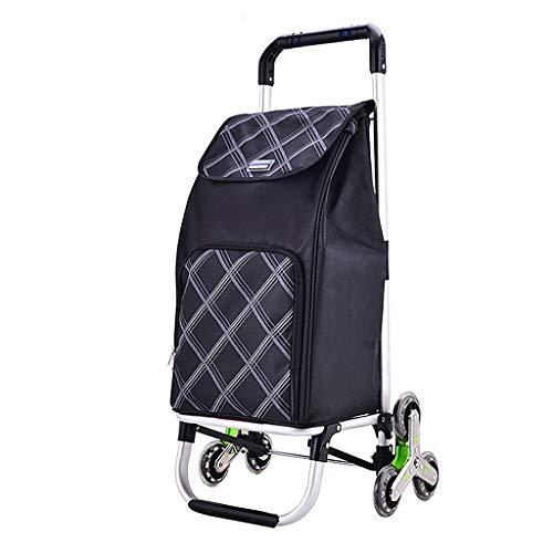 Xhh Klettern Warenkorb Folding Einkaufswagen Tragbare Kleinen Warenkorb Haushaltsgepäck Traile, Oxford wasserdichte Tasche Pullable Kinderlager 55 kg (Color : ORANGE)
