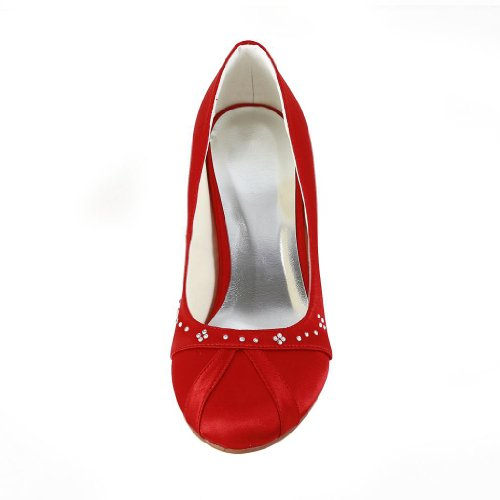 Jia Jia Wedding 594945 Scarpe Sposa Scarpe col tacco donna Rosso