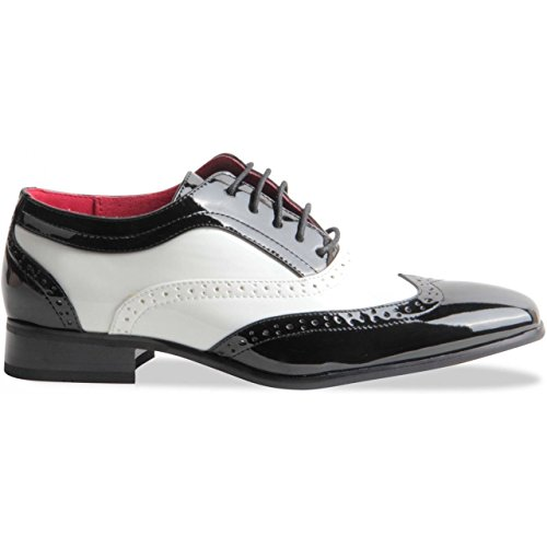 Rossellini  Borsalino, Chaussures de ville à lacets pour homme noir et blanc