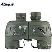 Aomekie Binocolo Militare Professionale 7x50 Con Bussola Multifunzione Oscillante Adatto Al Bird Watching Caccia Vela Con Tracolla e pacchetto