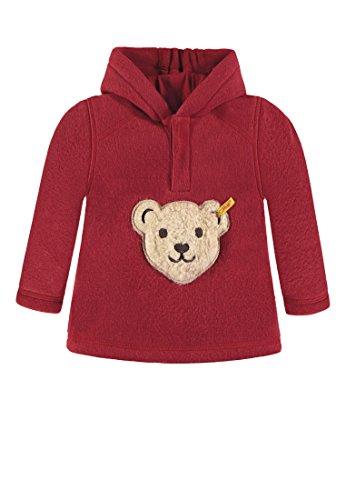 Steiff Jungen 1/1 Arm Fleece Sweatshirt, Rot (Jester red 2120), 92 Fleece-armee Pullover