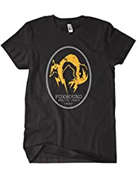 Metal Gear Solid t Shirt Solid Snake Foxhound_Logo_Oval_Black