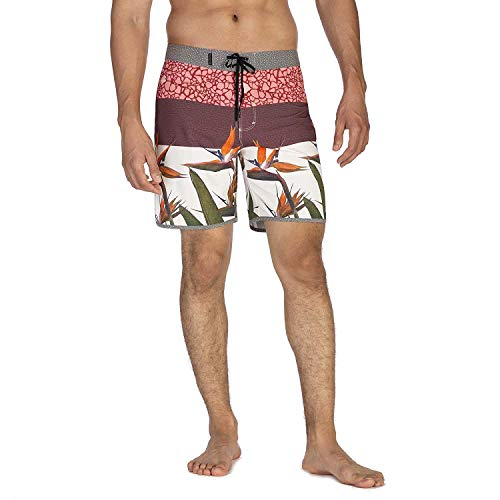 Hurley Herren Boardshort M Phantom Bird 18', Gym Red O Burghundy Crush, 36, AQ0214