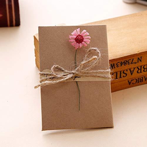 1 stück DIY Getrocknete Handwerk blume Einladungsgrußkarte Hochzeit Danke Karte Geburtstagskarte Valentinstag