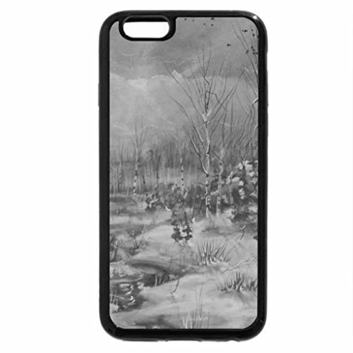 iPhone 6S Case, iPhone 6 Case (Black & White) - Sacred Mountains Camp (Camp Mountain)