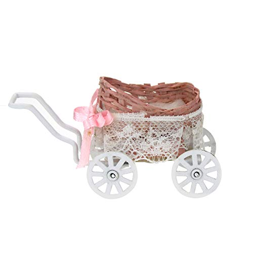 rycnet Miniatur-Baby-Kinderwagen für 1/12 Puppenhaus, Heimdekoration