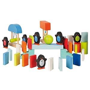 Janod 4508067 - Juego de efecto dominó (100 fichas), varios colores y diseños