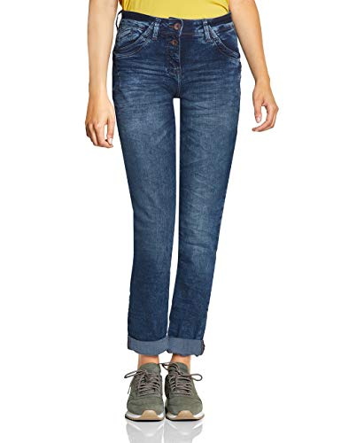 CECIL Damen 372398 Scarlett Loose Fit Straight Jeans, Blau (mid Blue wash 10284), W31/L32 (Herstellergröße:31)