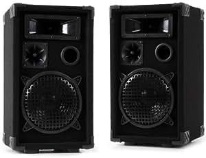 600 Watt PAAR 3-Wege Boxen PA-Lautsprecher DJ-Pro 8