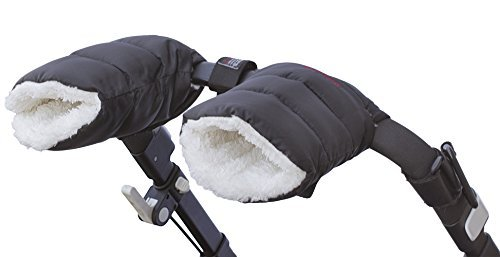 Schpinn & Co. Cozy Infant Stroller Hand Muffs for Parents and Caregivers--black- Matte Color These Stroller Gloves Will Keep Your Hands Toasty While Making It Easy to Tend Your Child's Needs