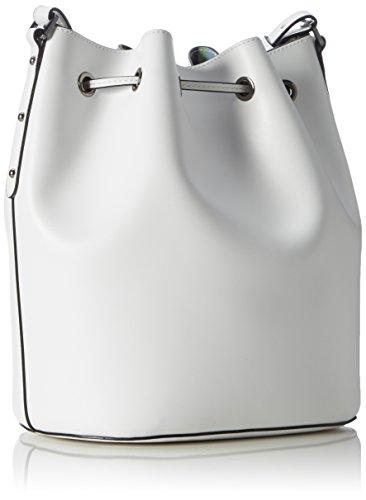Armani Jeans Damen 9221747p757 Schultertaschen, 18 x 30 x 25 cm Weiß (BIANCO 00010)