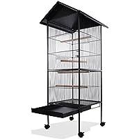 Volière cage à oiseaux metal canaries perroquet perruches hauteur 157cm