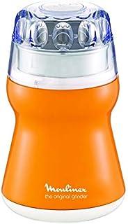 مطحنة القهوة اصلية مصنوعة من البلاستيك من مولينكس بقدرة 180 واط، لون برتقالي، AR110O27