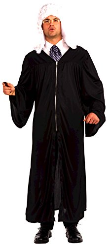 Judge Robe Costume Black Adult ()