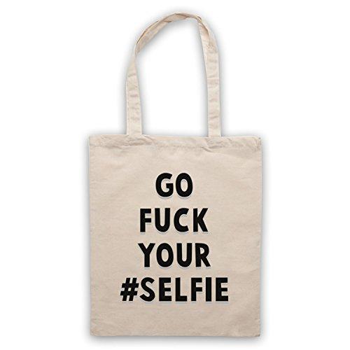 Go Fuck Your Selfie Funny Slogan Umhangetaschen Naturlich