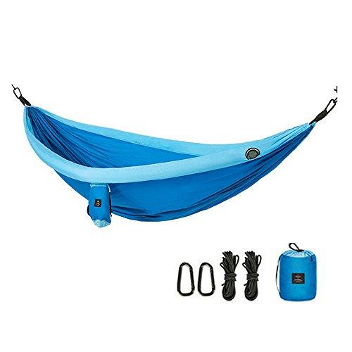 TESITE HäNgematte Portable Double Outdoor Camping Garten Erwachsenen Camping (240 * 173cm)