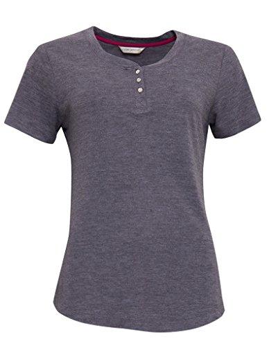 Cyberjammies 3254 Women's Louisa Grey Knit Cotton Pajama Sleepwear PJs Pyjama Top 48EU (Knit Pyjamas Womens)