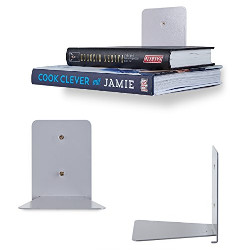 comprare on line Lumaland Mensola scaffale Libri invisibile in Metallo 4 pezzi prezzo