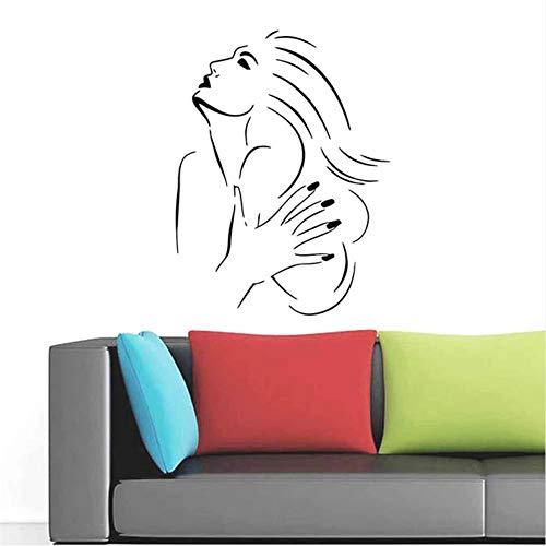 Chellonm Nueva Decoración Del Hogar Coqueta Pegatinas De Pared De Fondo Sala De Estar Dormitorio Calcomanías De Pared Impermeable Extraíble Mural