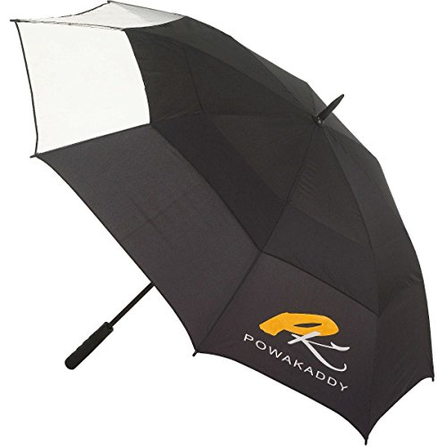 Powakaddy Clearview Gustbuster Umbrella- de golf Noir/clair