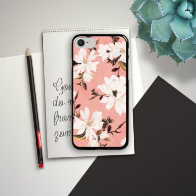 Apple iPhone X Silikon Hülle Case Schutzhülle Frühling Weiße Blumen ...