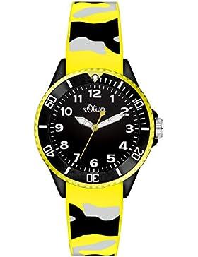 s.Oliver Unisex-Armbanduhr Analog Quarz Silikon SO-3284-PQ