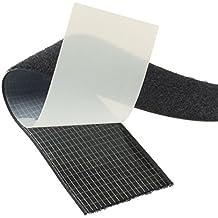 HomeOutdoor® & Hook Loop, Extra-resistente, ad alta adesività, in acrilico con retro adesivo, 1 m x 20 mm, retro resistente nero