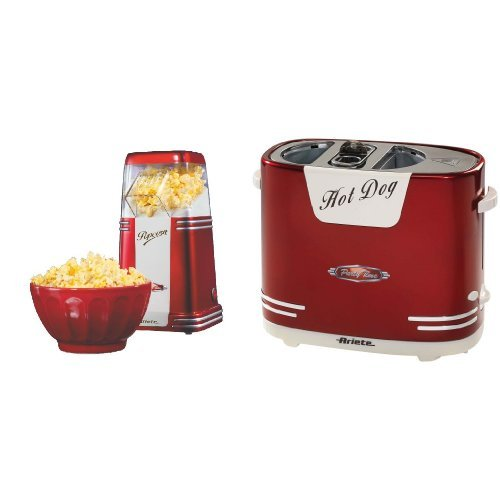 Ariete popcorn popper + hotdog party time