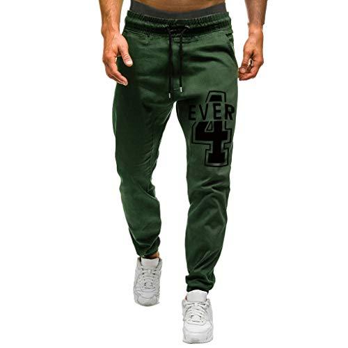 GNYD Herren Hose Jeans Regular fit Mode Männer Casual Sporthosen Slim Fit Bedruckte Hosen Running Joggers Jogging