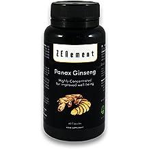 Panax Ginseng hautement concentré, 2375mg, 60 capsules, améliore la concentration, la mémoire et l'endurance athlétique, sans OGM, 100% naturel