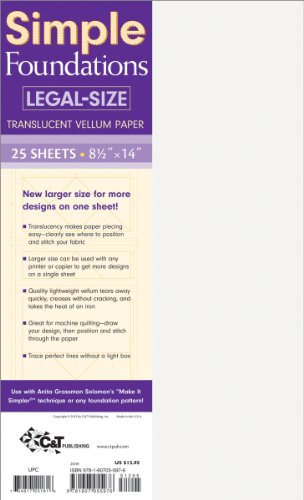 Simple Foundations Legal-Size Translucent Vellum Paper Translucent Vellum Paper